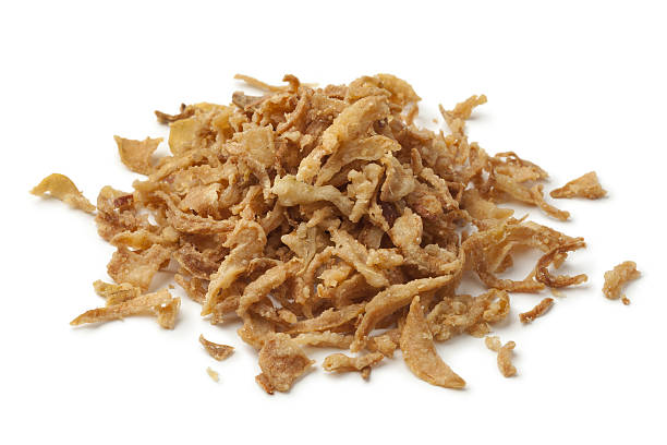 Heap of baked onions stock photo
