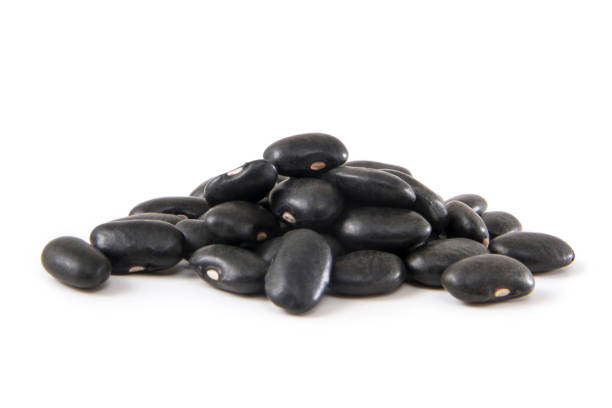Heap of Black Beans stock photo