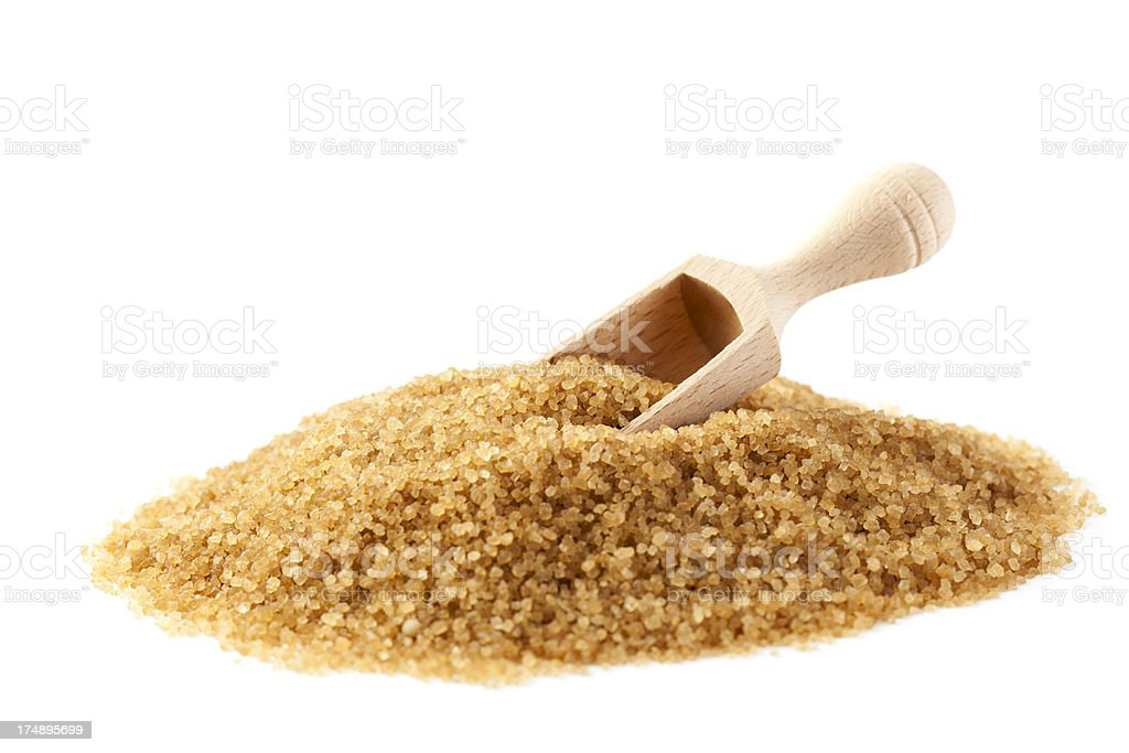 Heap of Cane Sugar stock photo