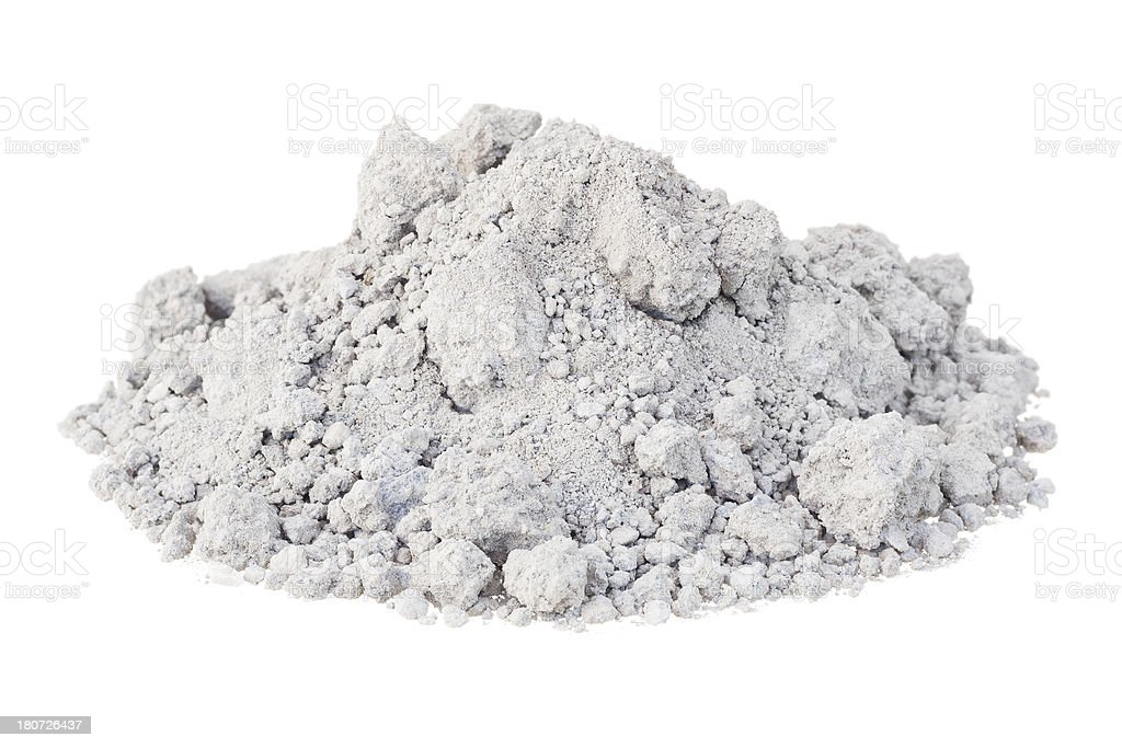 Heap of chemical fertilizer isolated on white stock photo