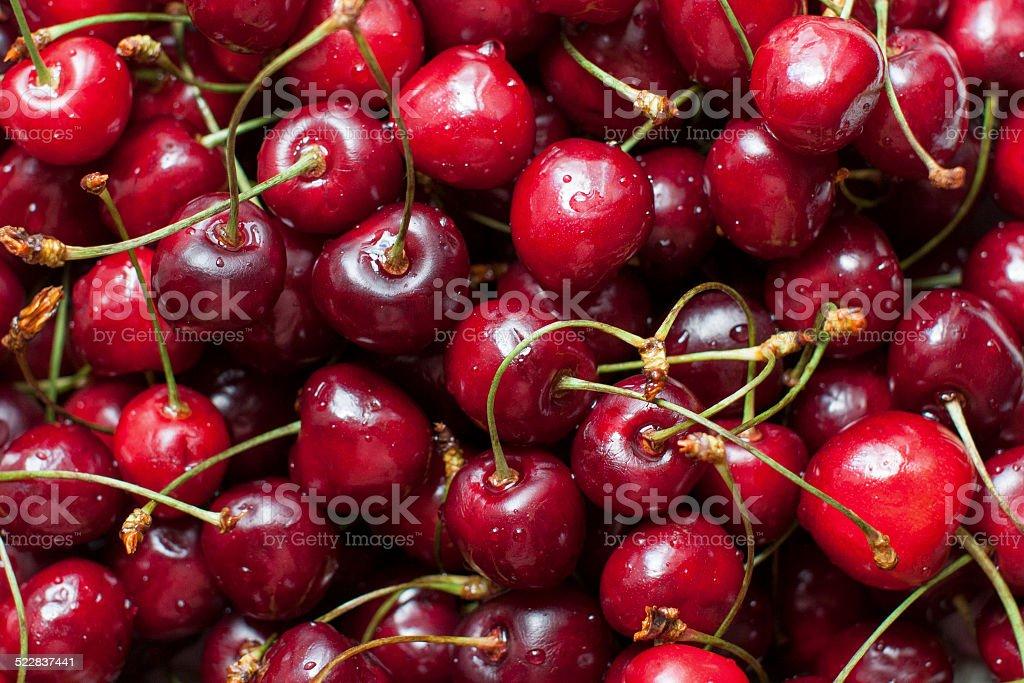 Heap of cherries stock photo