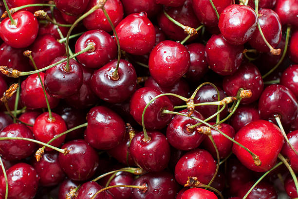 Heap of cherries stock photo