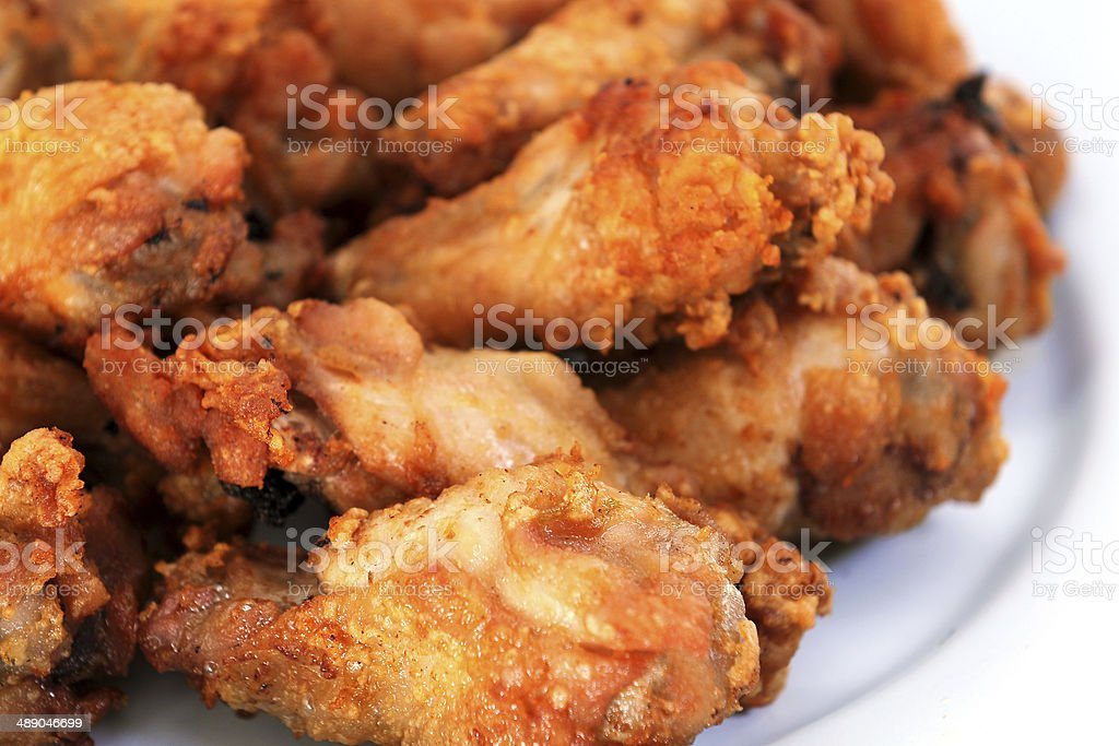 Heap of chicken wing royalty-free stock photo