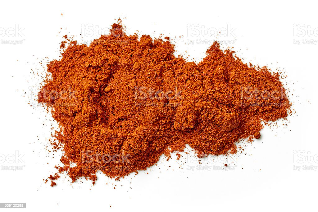 heap of chili powder stock photo