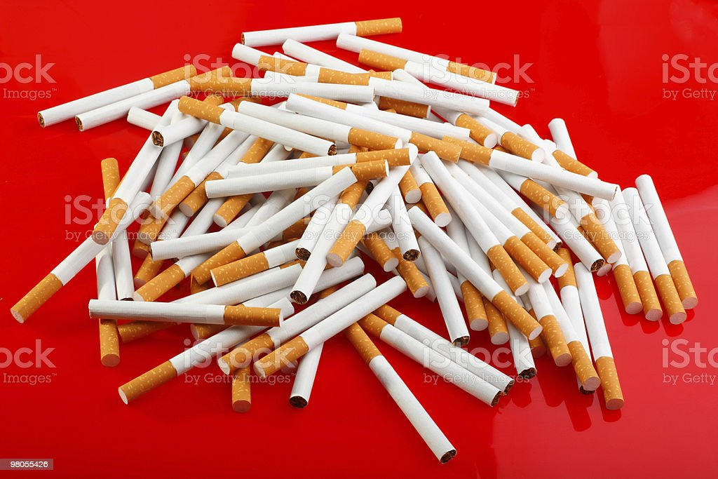 Heap of cigarettes royalty-free stock photo