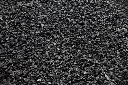 Close-up of black coal