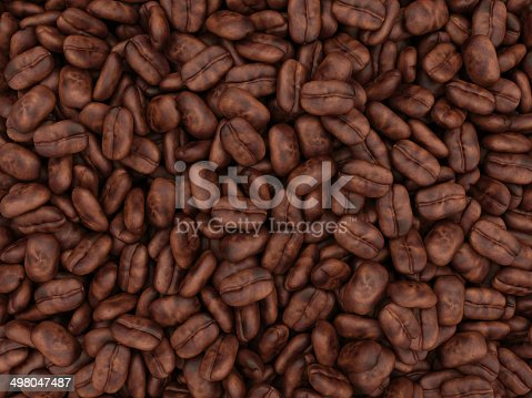istock Heap of Coffee Beans Background 498047487