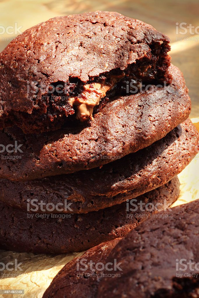 Heap of cookies stock photo