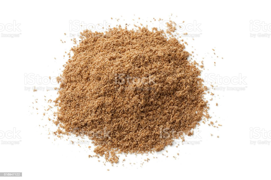 Heap of coriander powder stock photo