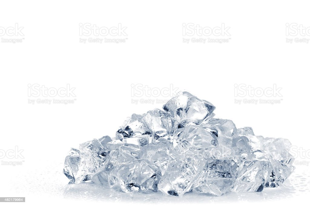 Heap of crushed ice stock photo