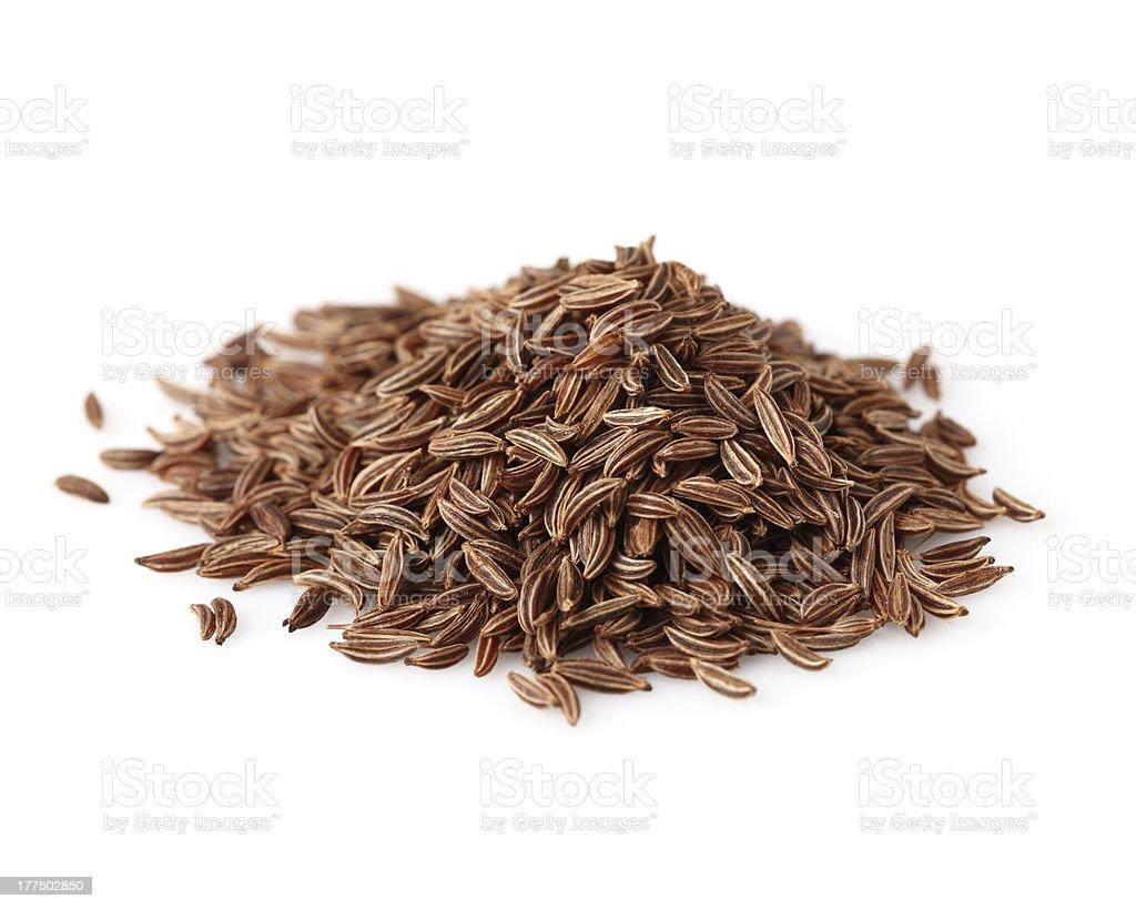 Heap of cumin stock photo