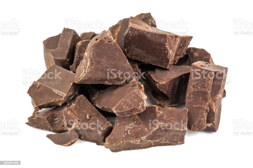 heap of dark chocolate stock photo
