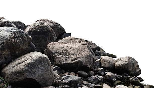 heap of dark stones - rock object stock pictures, royalty-free photos & images