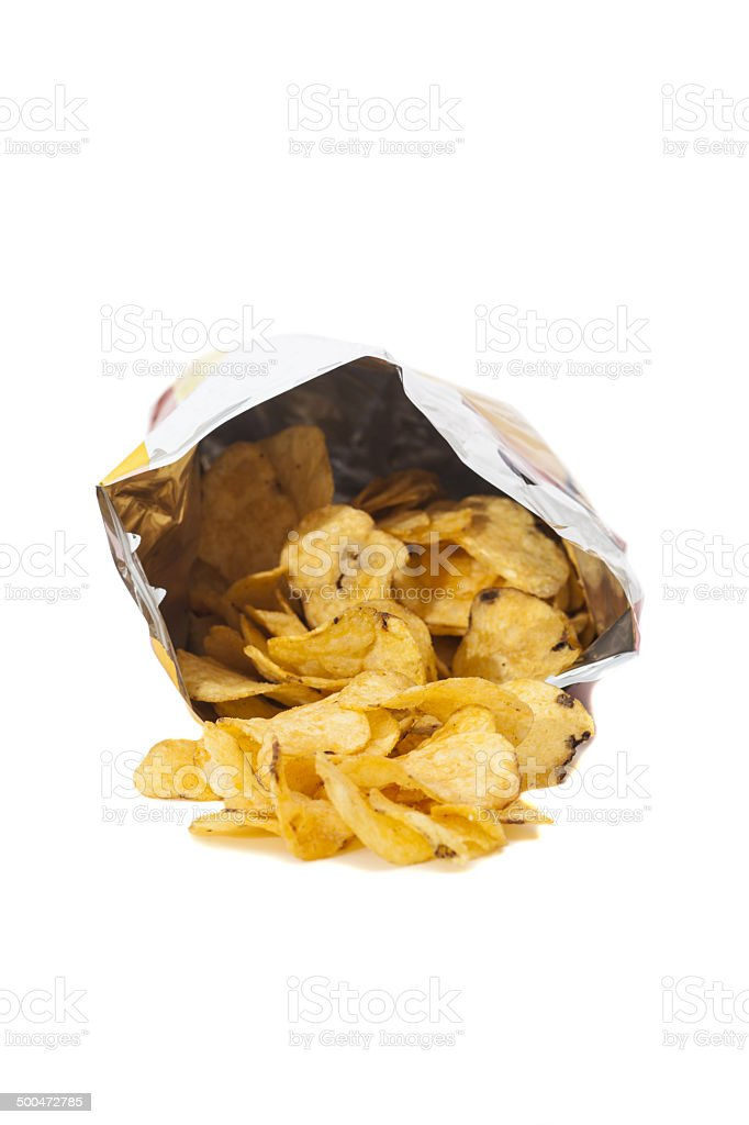 Heap of Delicious potato chips royalty-free stock photo