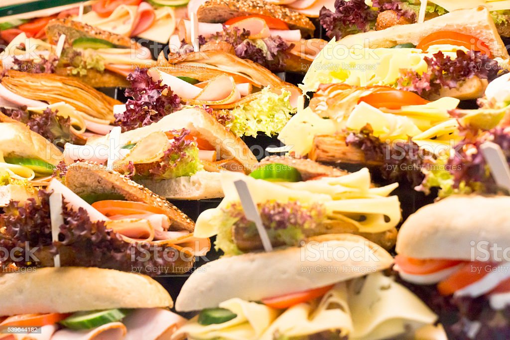 Heap of Delicious Sandwiches stock photo