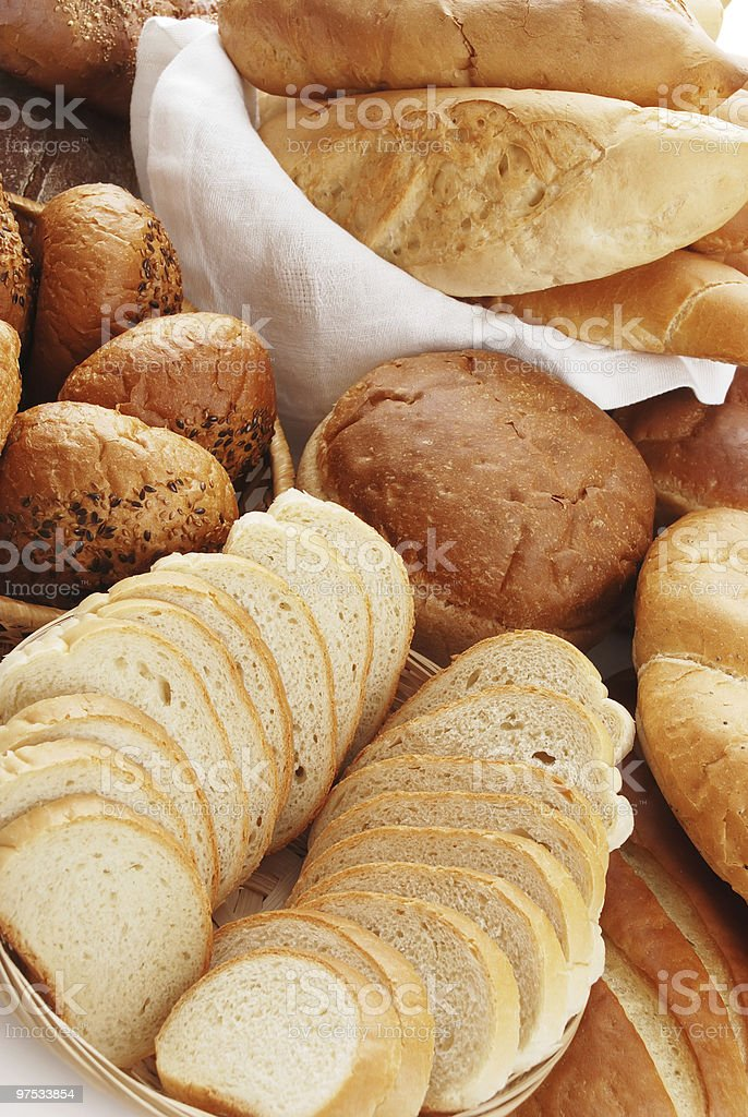 Heap of different bread royalty-free stock photo