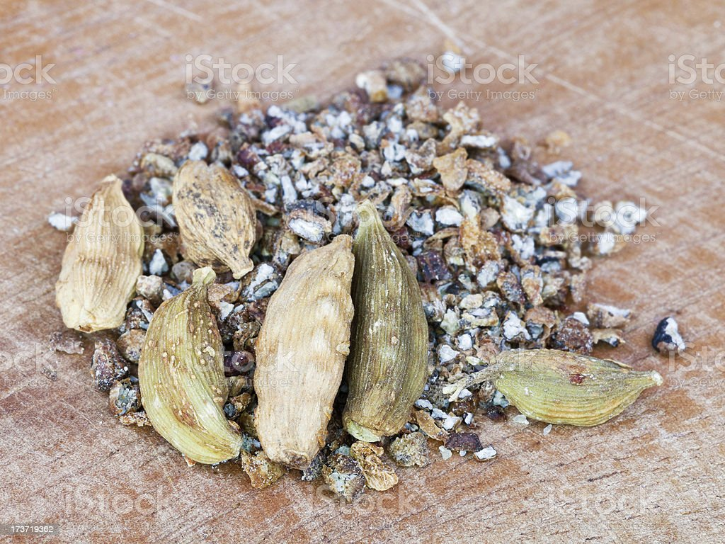 heap of dried cardamon royalty-free stock photo