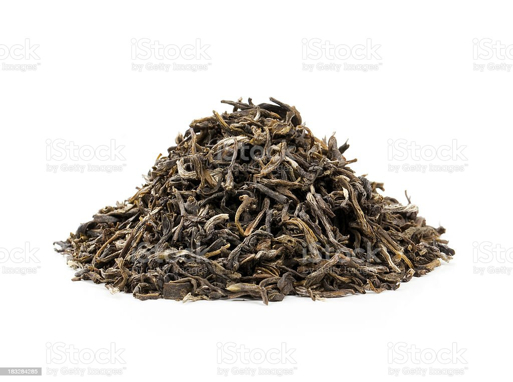 Heap of dried tea leaves royalty-free stock photo