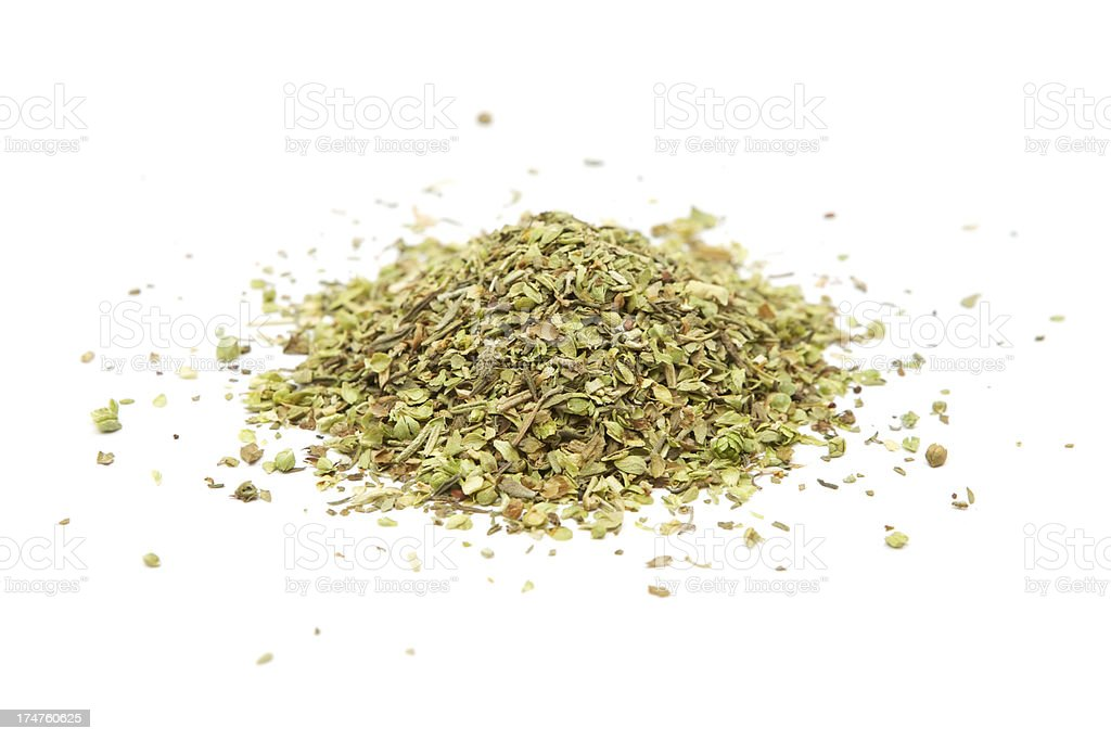 Heap of Dry Herbs stock photo