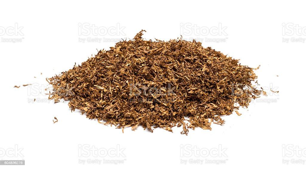 Heap of dry soft Pipe Tobacco stock photo