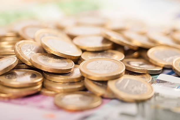 Haufen euro-Münzen – Foto