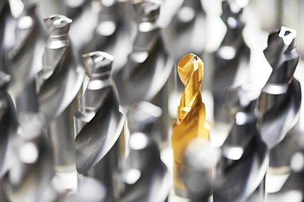 heap des fertigen Metall drills – Foto