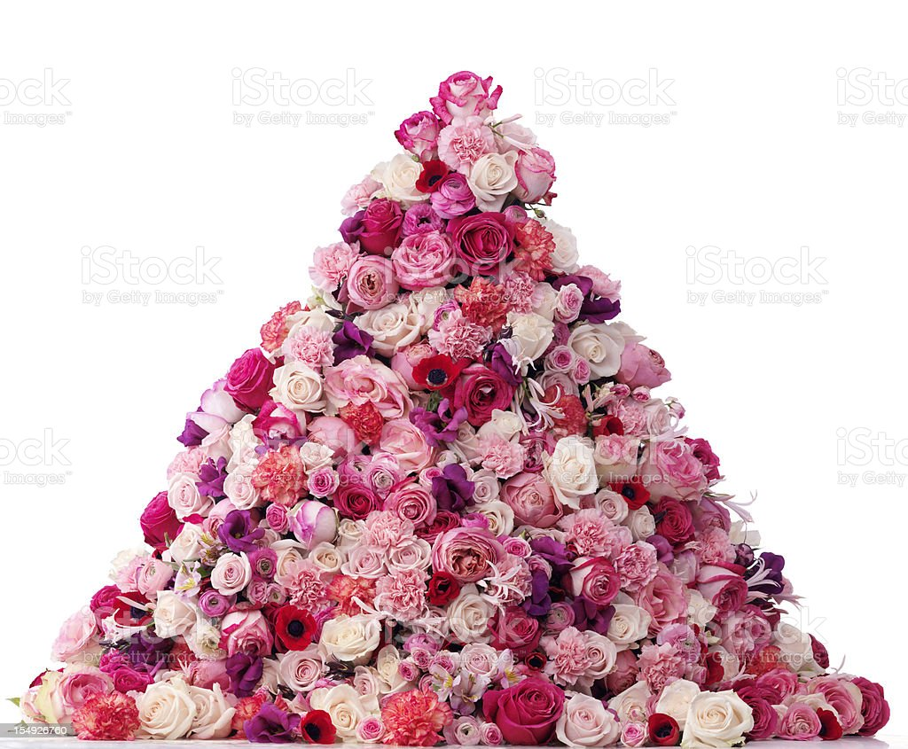 Heap of flowers royalty-free stock photo