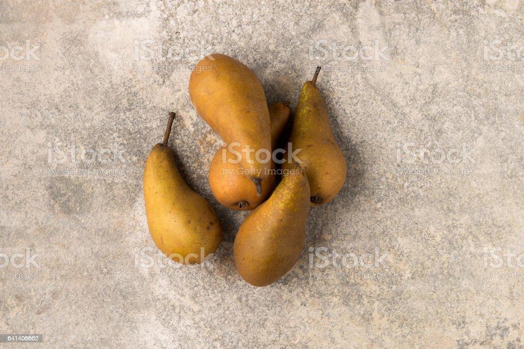 Heap of Fresh Whole Pears stock photo