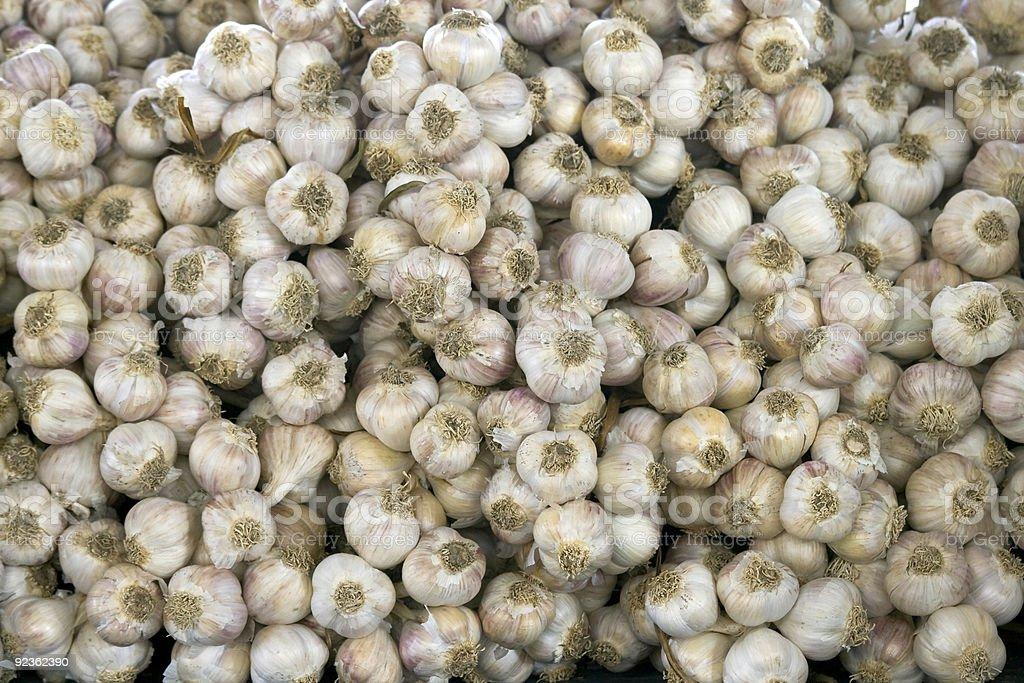 Heap of garlic bulbs royalty-free stock photo