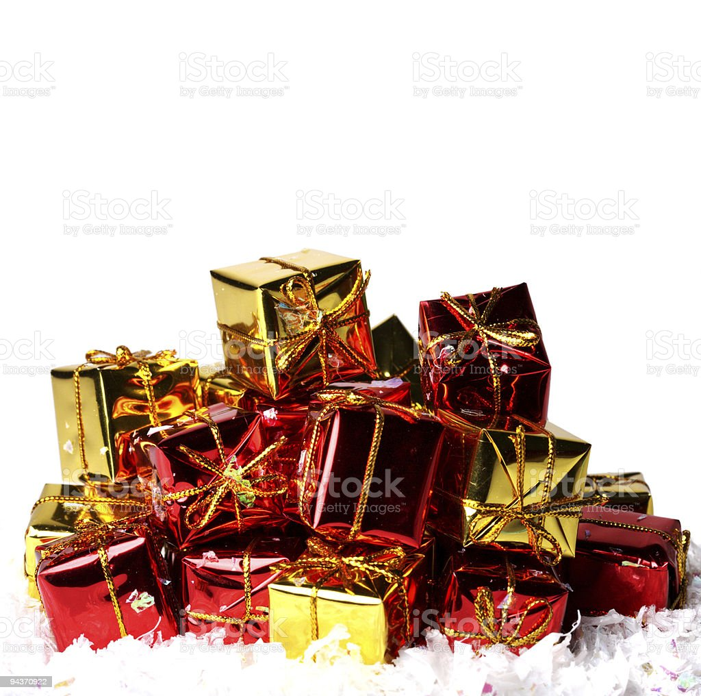 Heap of gift boxes royalty-free stock photo
