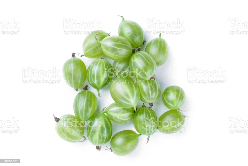 Heap of green ripe gooseberry royalty-free stock photo