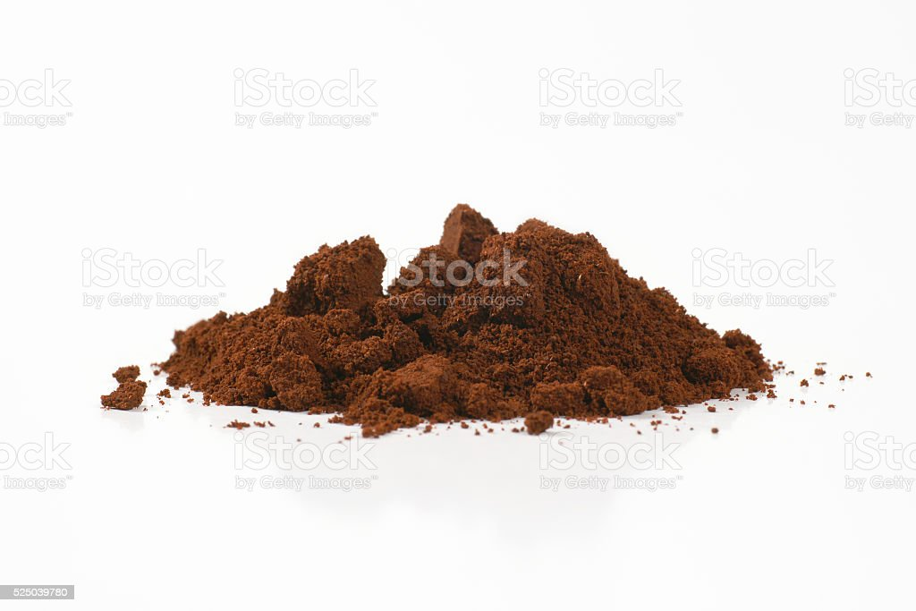 heap of ground coffee stock photo