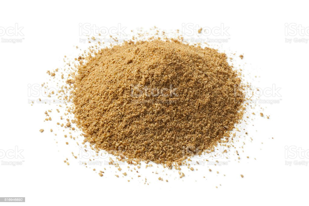 Heap of ground cumin seeds stock photo