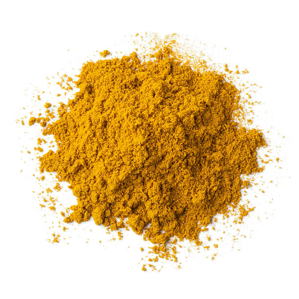 Heap of ground Garam masala Heap of ground Garam masala powder on white background garam masala stock pictures, royalty-free photos & images