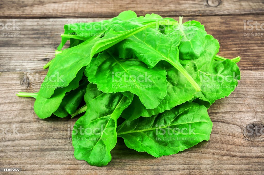 heap of healhty spinach stock photo