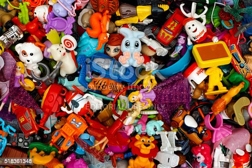 istock Heap of Kinder Surprise toys 518361348