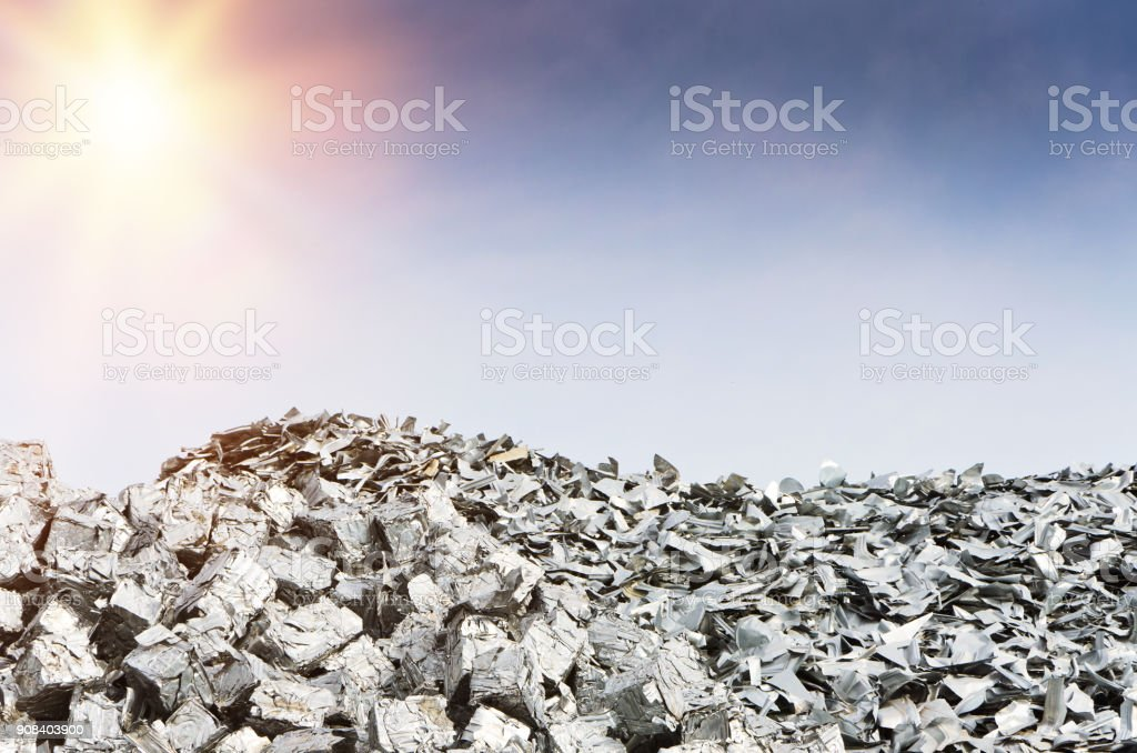 Heap of Metal Recycling Scarp stock photo