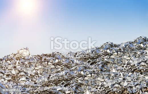 istock Heap of Metal Recycling Scarp 908403952