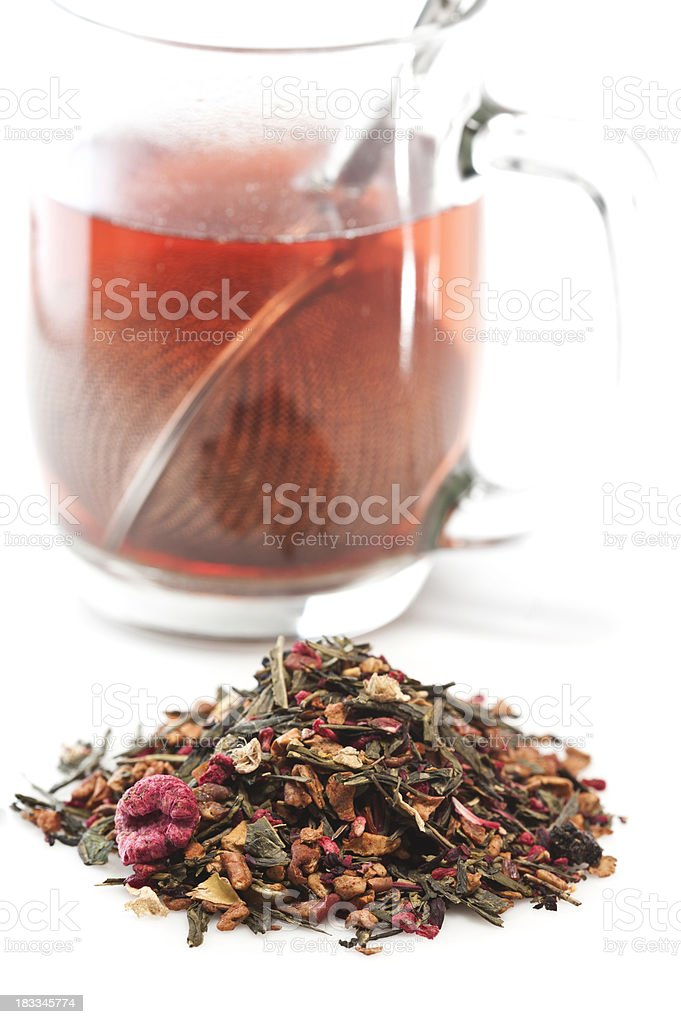 Heap of mixed berries herbal tea royalty-free stock photo
