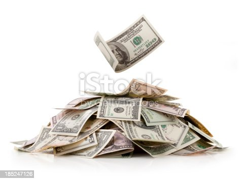 Heap of money. Dollar bills.Similar photographs from my portfolio: