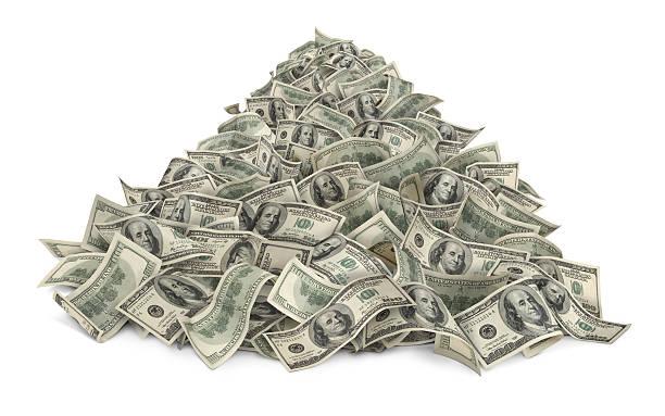 haufen geld - haufen stock-fotos und bilder