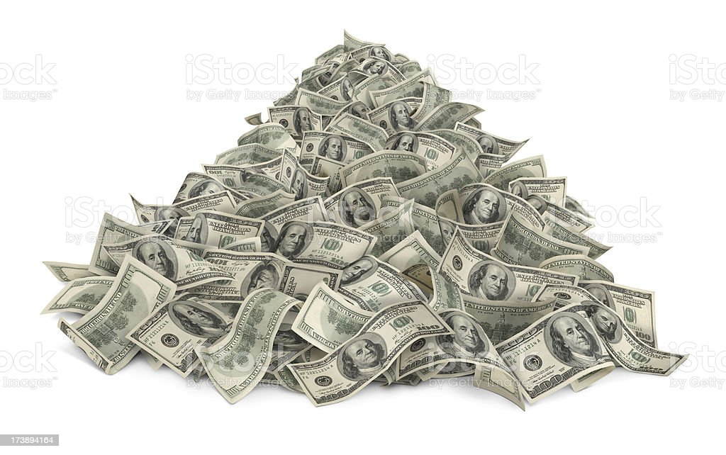 Heap Of Money stock photo