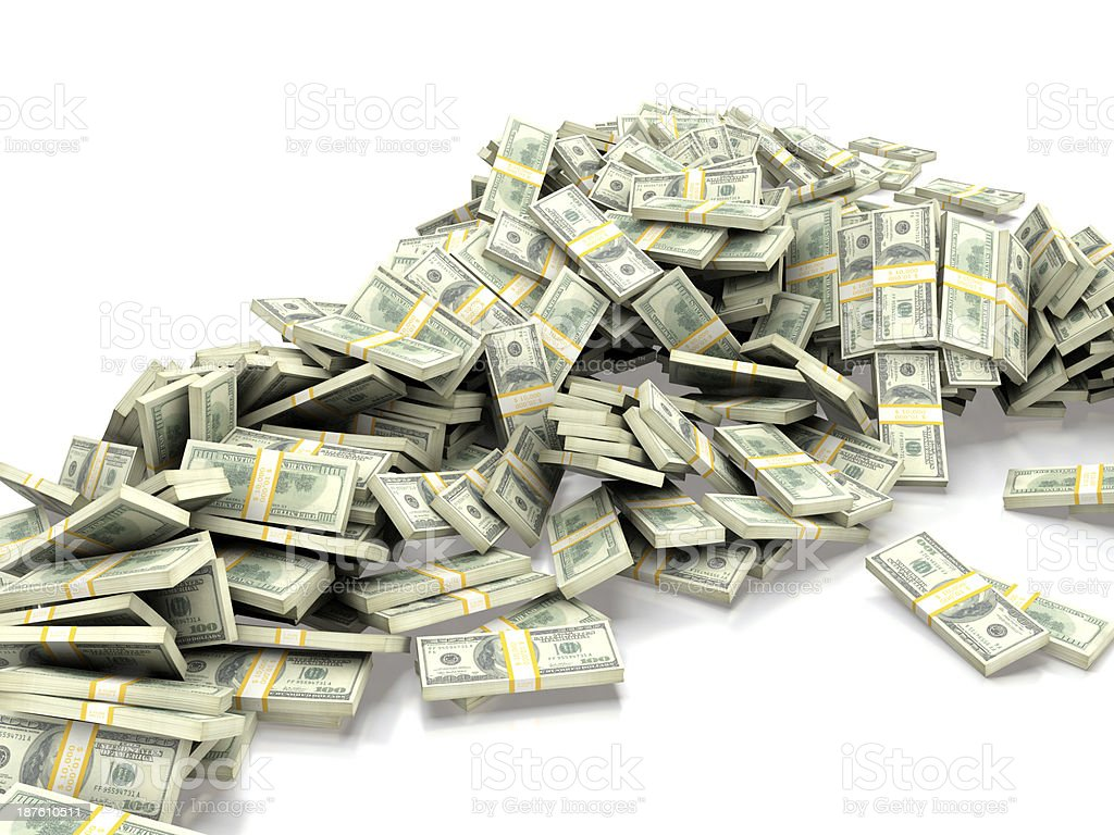 Heap of money royalty-free stock photo