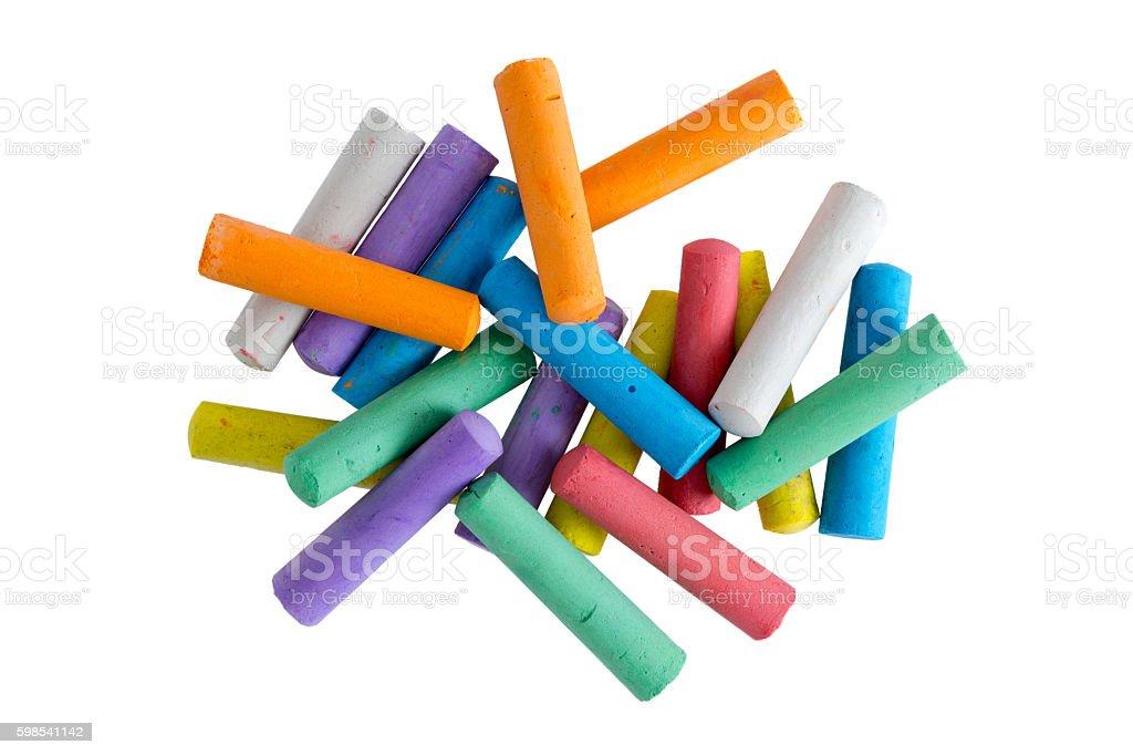 Heap of multicolored chalks for children photo libre de droits