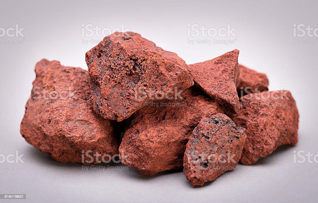 Heap of Natural Iron Ore stock photo