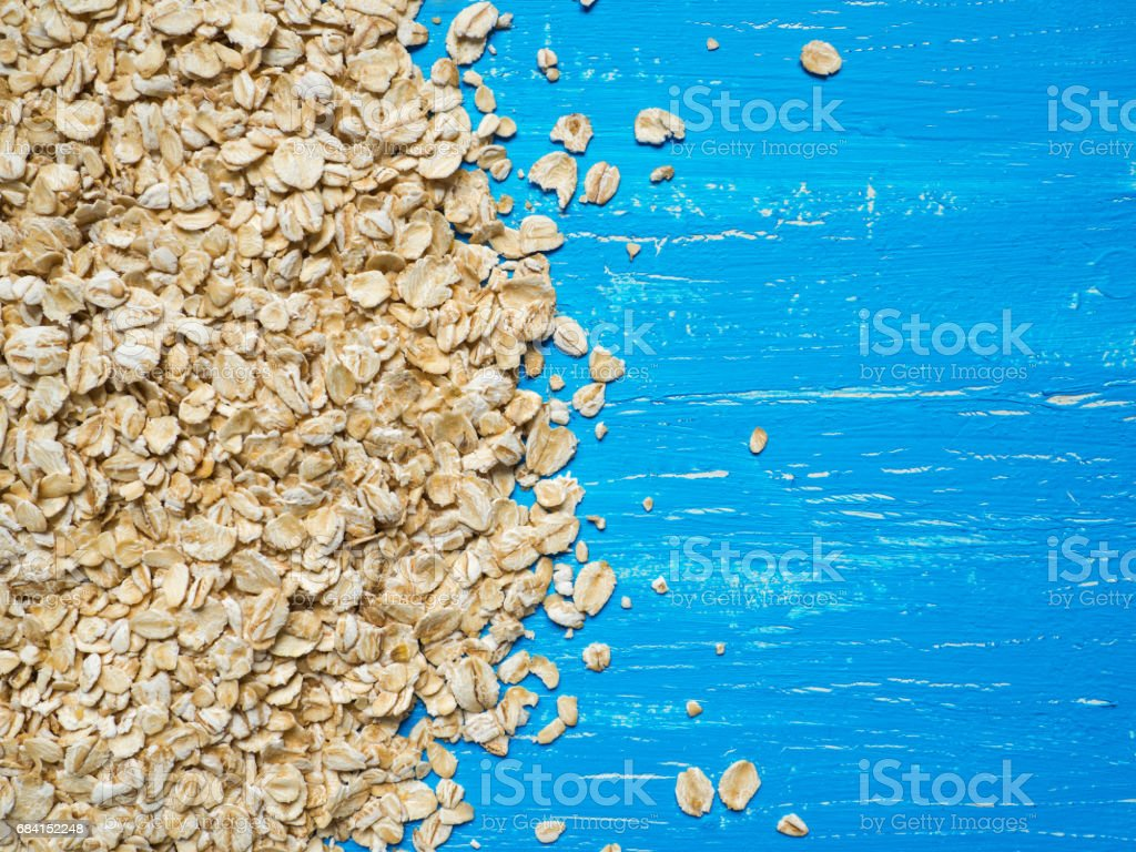 Heap of oat flakes in circle shape royalty free stockfoto