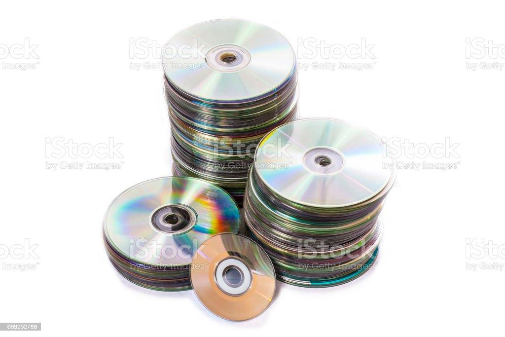 Heap verwendet der alten cd und Mini-Festplatten – Foto