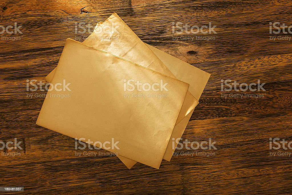 Heap of old weathered documents royalty-free stock photo