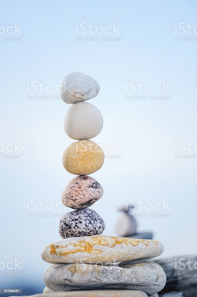 Minier de galets photo libre de droits