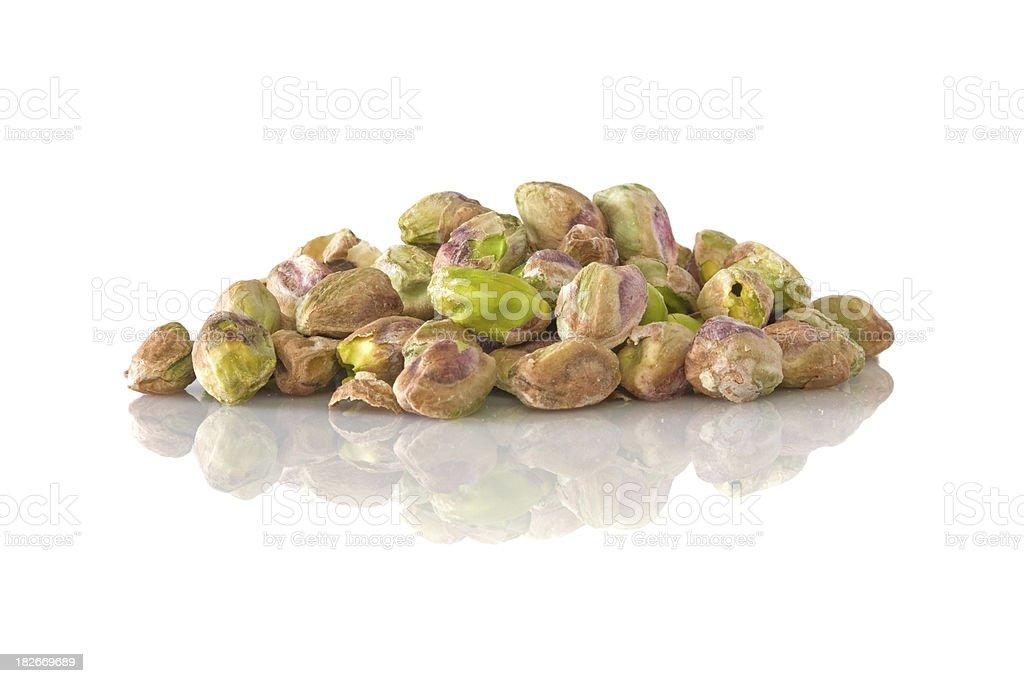 heap of peeled pistachios royalty-free stock photo